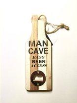 Flesopener Tekst Voor Aan De Muur Mancave Houten Fles Opener Gadget Cadeau Verjaardag