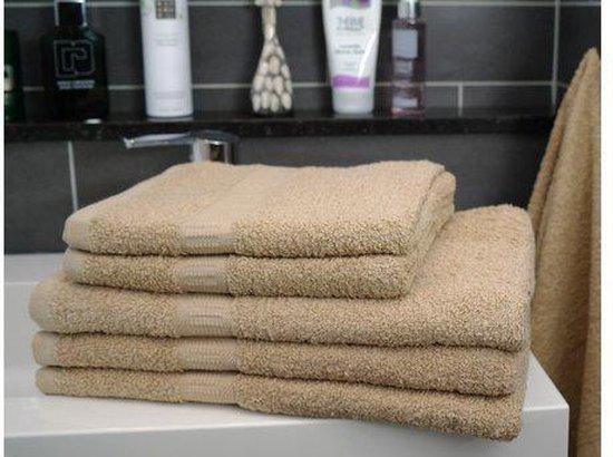 Bol Com Katoenen Handdoek Taupe Set Van 3 Stuks 50x100 Cm Heerlijk Zachte Badhanddoeken