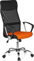 hjh office Orion Net - Bureaustoel - Netstof - Zwart / oranje