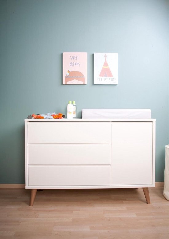 Commode Retro Rio - Wit -extra breed-
