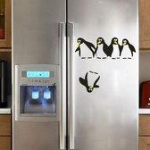 Muursticker Pinguins - Muurdecoratie keuken koelkast