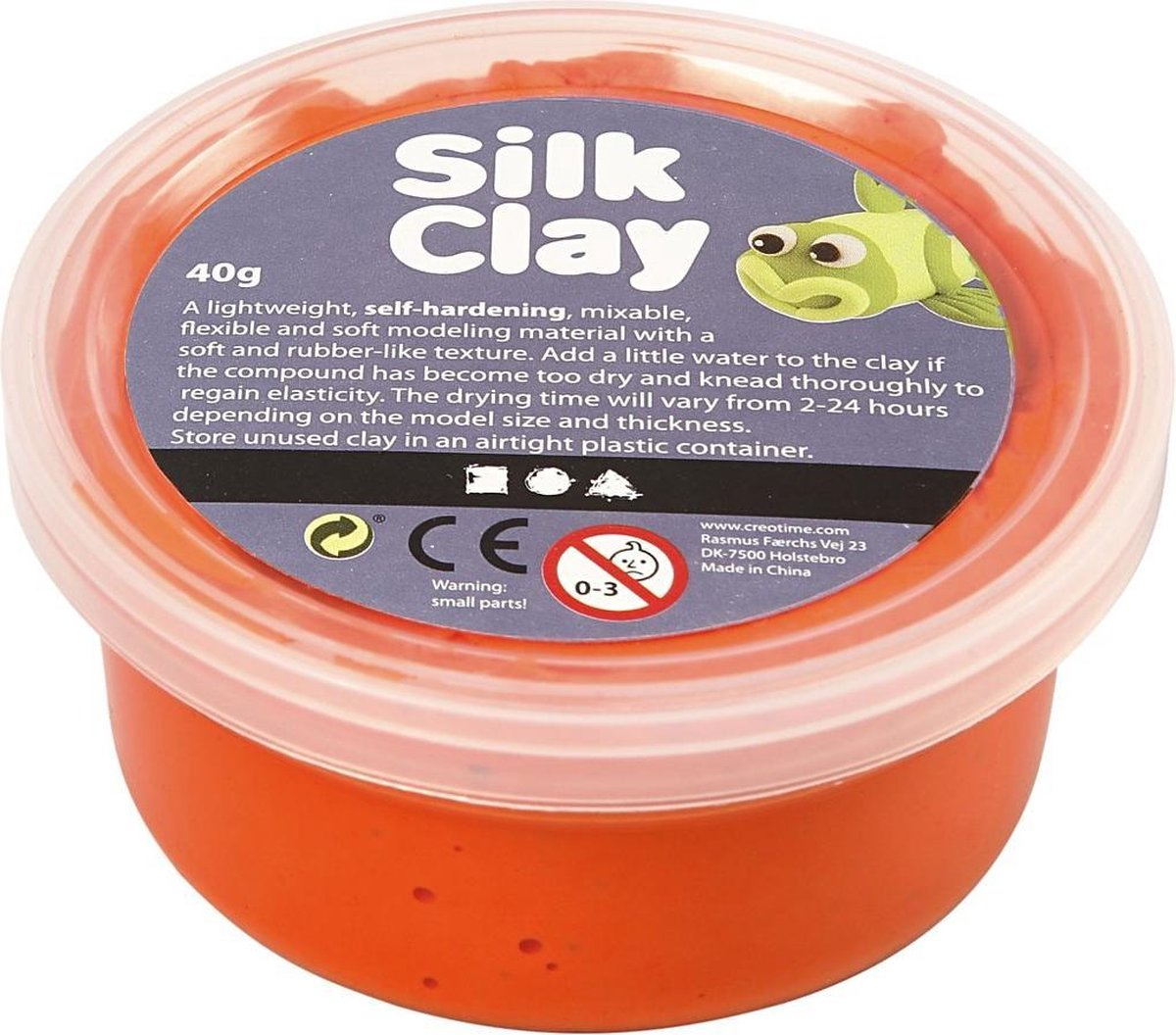 Silk Clay oranje 40gr