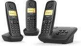 Gigaset A270A - Trio DECT telefoon - met antwoordapparaat - Zwart