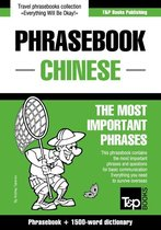 English-Chinese phrasebook and 1500-word dictionary