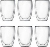 Bodum Pavina Dubbelwandig Glas - 350 ml - 6 stuks