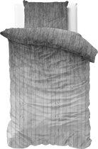 Sleeptime Wood Fresh 2 - Dekbedovertrek - Eenpersoons - 140x200/220 + 1 kussensloop 60x70 - Grijs