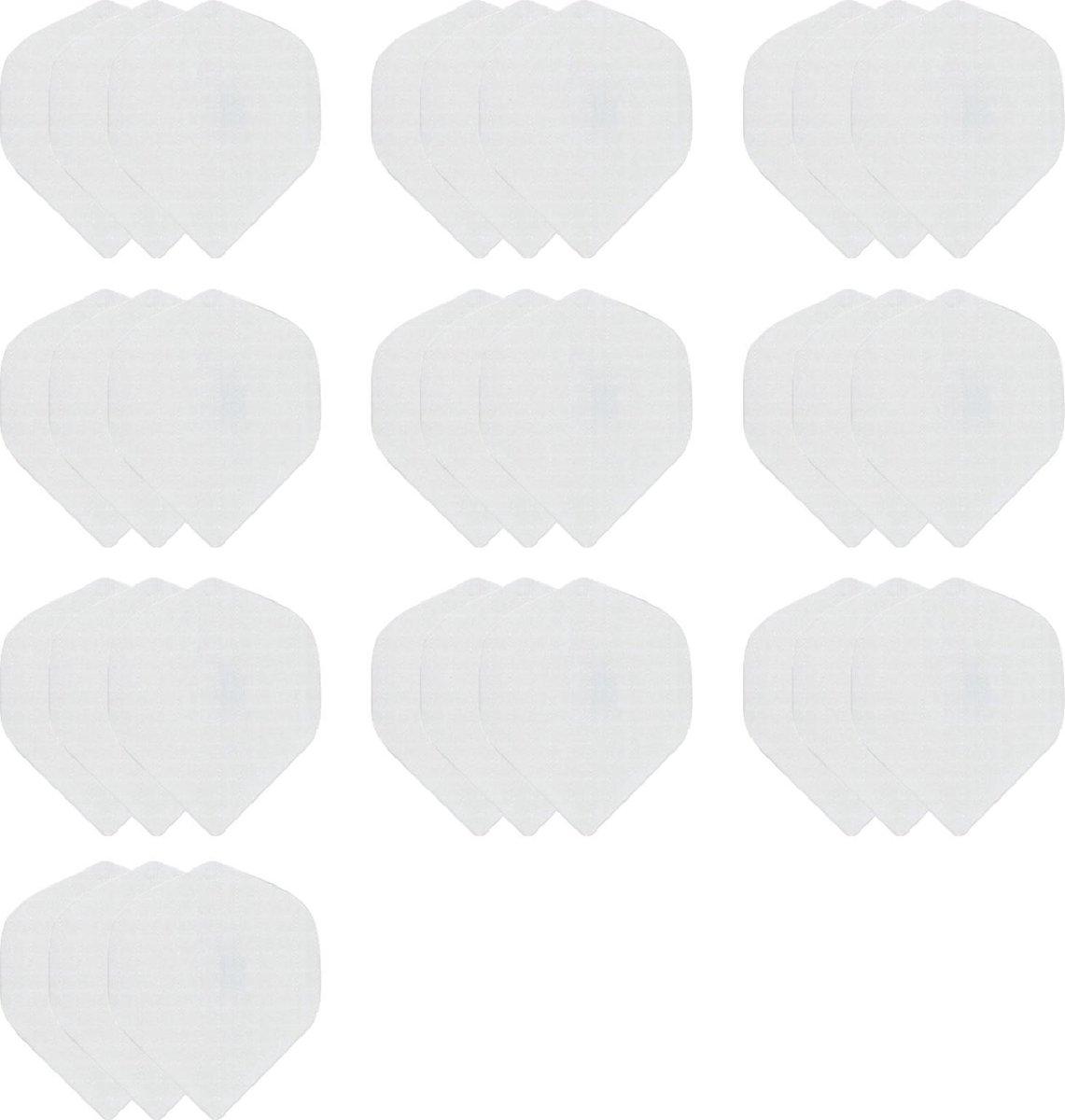 deDartshop 10 Sets (30 stuks) Dragon Poly - dart flights - Multipack - Wit - darts flights