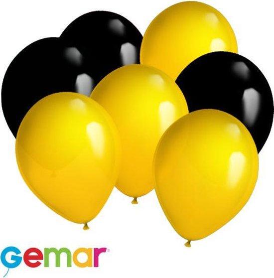 30x ballonnen Zwart en Oranje (Ook geschikt voor Helium)