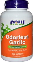 Knoflook Concentraat Geurloos (250 Softgels) - Now Foods