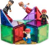 Magnetische speelgoedfiguren - brandweerman, politieman, verpleegster en werkman. Figuren kunnen gecombineerd worden met Play mags, Magna tiles en elk andere megnetische  blokjes.
