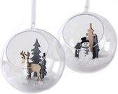 Transparante DIY open kerstbal 10 cm