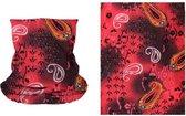 Haarband paisley print rood - multifunctioneel - sjaal bandana