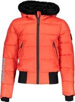 SuperRebel Meisjes Multi functionele jas - Neon Red - Maat 128