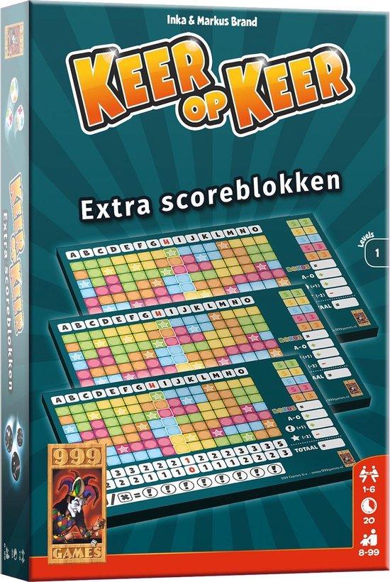 Afbeelding van het spel Keer op Keer Scoreblok 3 stuks Level 1 Dobbelspel
