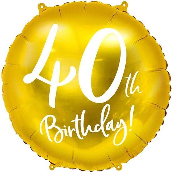 Folie ballon 40th Birthday - 45 centimeter