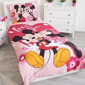 Disney Minnie Mouse I Love You - Dekbedovertrek - Eenpersoons - 140 x 200 cm - Polyester