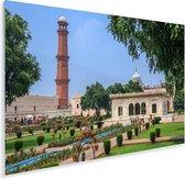 De binnenplaats het oude Fort Lahore in Pakistan Plexiglas 180x120 cm - Foto print op Glas (Plexiglas wanddecoratie) XXL / Groot formaat!