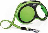Flexi New Comfort Tape - Hondenriem - Groen/Zwart - L - 8 m - (<50 kg)
