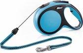 Flexi New Comfort Koord - Hondenriem - Blauw - M - 8 m - (<20 kg)