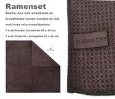 Raamdoeken Raamset schoonmaakdoeken 2 stuks Fanatic & Clean Dry ramenset origineel ramen zemen