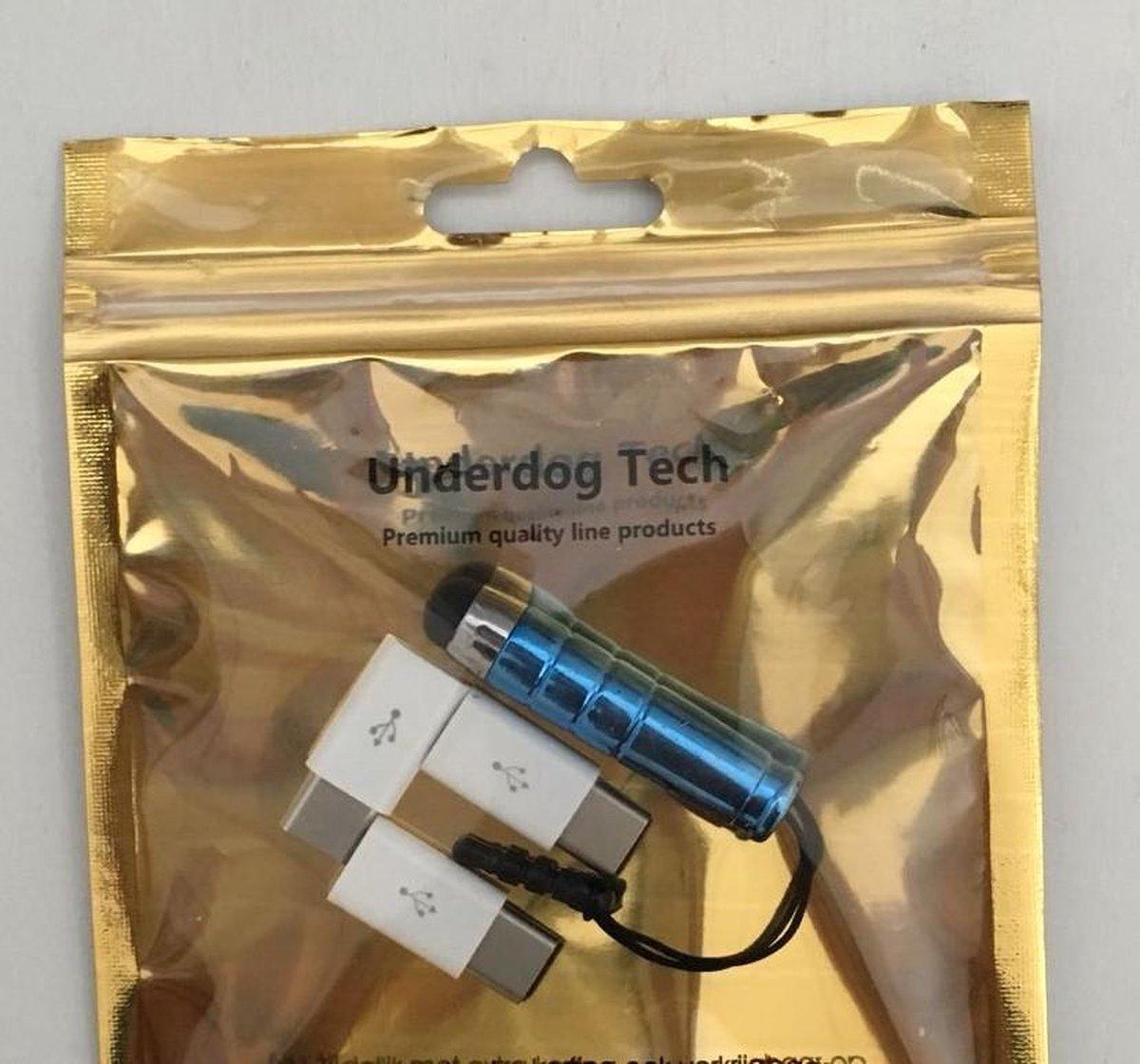 (Combi Pack 3x stuks) Micro USB naar USB C - Android adapter - WIT - Merkloos
