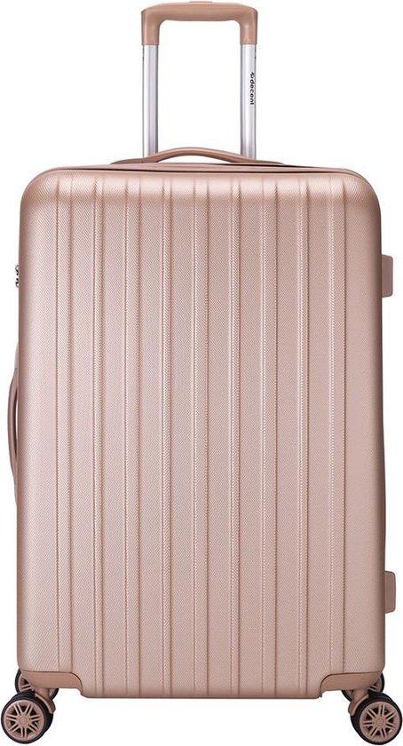 Decent Tranporto-One Grote koffer - 76 cm - TSA slot - Salmon Pink