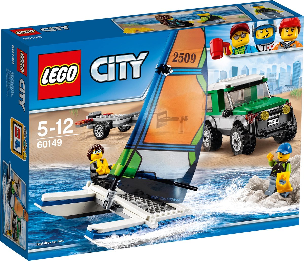 LEGO City 4x4 met Catamaran - 60149