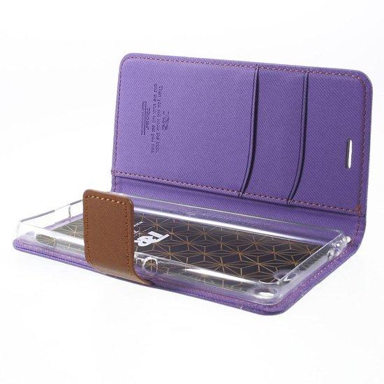 Roar - Sony Xperia M5 Hoesje - Wallet Case Denim Paars