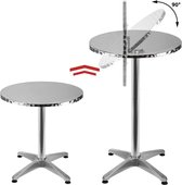 Opklapbare statafel, Bartafel, tafel, terrastafel van aluminium