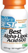 Alpha-Lipoic Acid 600 mg (180 Veggie Caps) - Doctor's Best