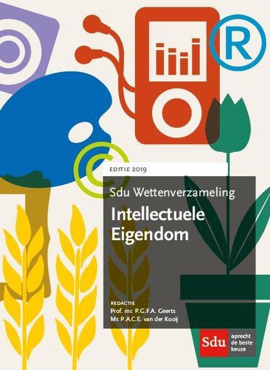 Boek cover Sdu wettenverzameling  -  Sdu Wettenverzameling Intellectuele Eigendom 2019 van P.A.C.E. van der Kooij (Paperback)