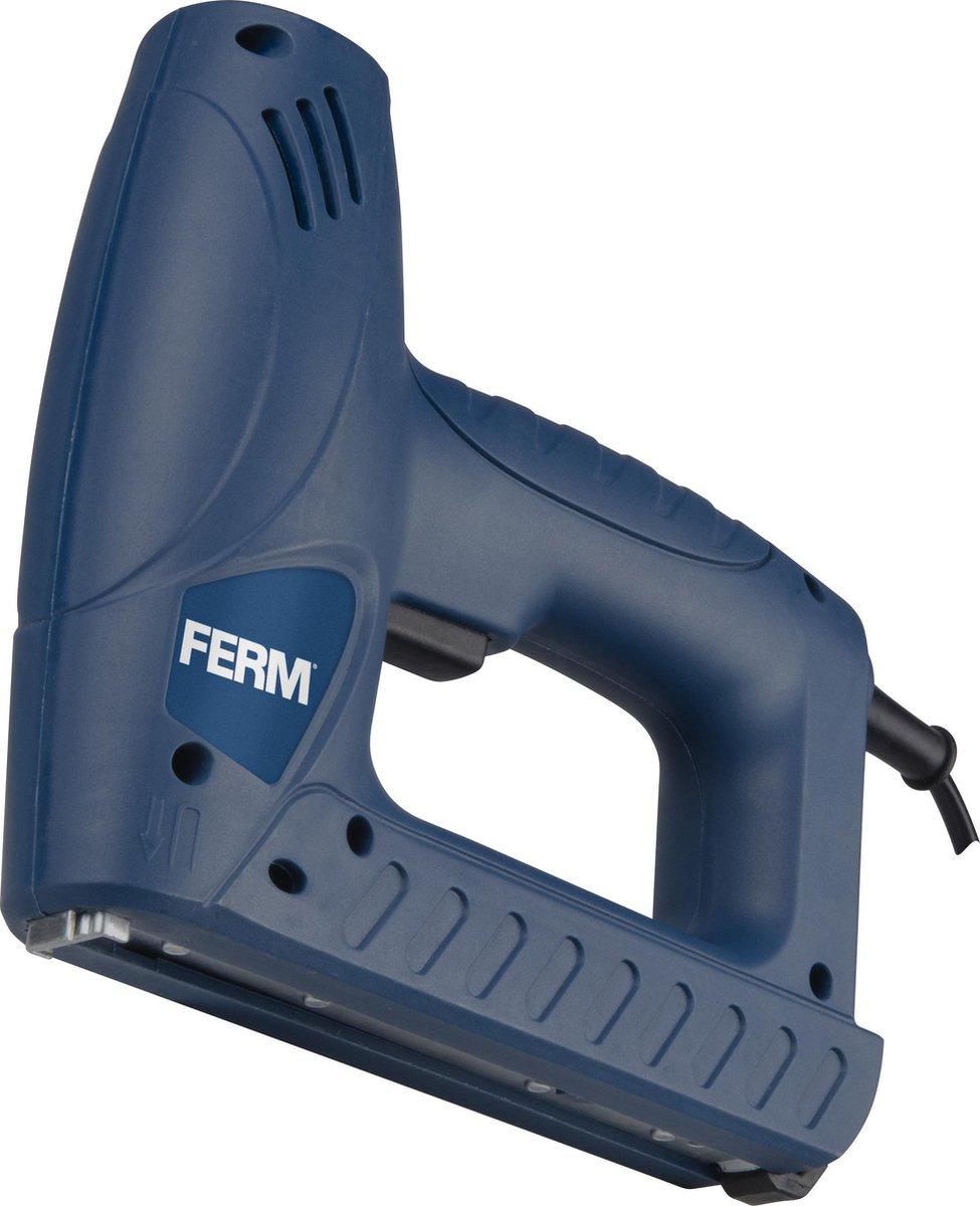 FERM Elektrische Tacker   Incl. 400 Nietjes & 100 Spijkers