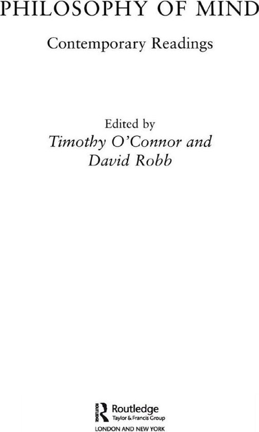 Boek cover Philosophy of Mind: Contemporary Readings van T. OConnor (Onbekend)