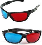 WiseGoods - Universele 3D Bril - 3D Bril - Rood/Blauw - Passief - Plastic Bril  - 3D Games