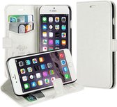 KDS Cover Wallet case hoesje iPhone 4 4S wit