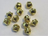 Kerst belletjes goudkleur 10 milimeter 12 Stuks (1 Pak)