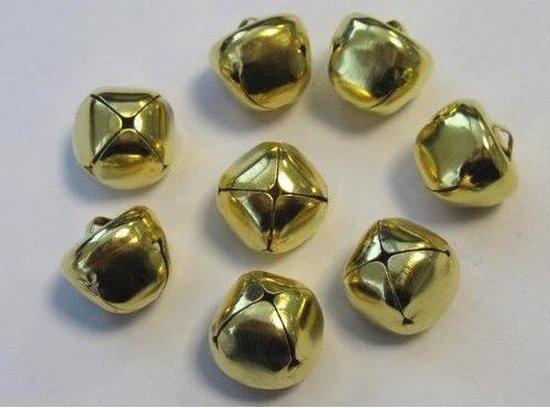 Kerst belletjes goudkleur 15 milimeter 8 Stuks (1 pak)