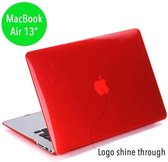 Lunso - hardcase hoes - MacBook Air 13 inch (2010-2017) - glanzend rood