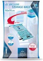 LaundrySpecialist® Handige vacuüm opbergzakken 50x70 cm - set van 5