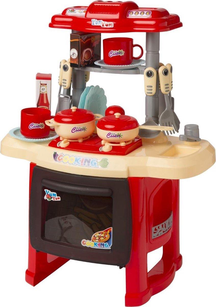 Kinder speelkeuken - Kinderkeuken met accessoires - Rood - Merkloos