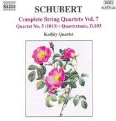 Schubert: String Quartets Vol.7