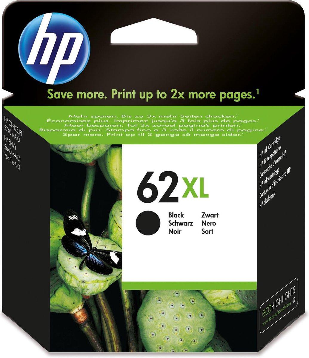 HP 62XL - Inktcartridge / Zwart / Hoge Capaciteit