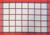 Jorzolino Blockstripe Theedoek (12 Stuks) - 50x70 cm - Red/Blue
