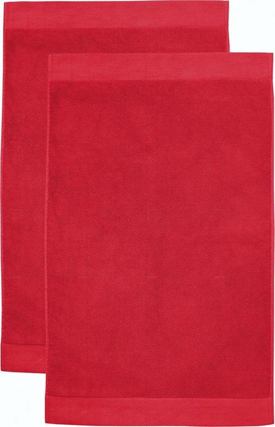 Seahorse Combiset Pure badmat 50 x 90 red (2 stuks) - Seahorse