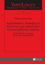 Argumentative Strategien in deutschen und italienischen wissenschaftlichen Artikeln
