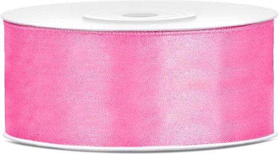 Roze Satijn Lint  25mm Breed