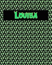 120 Page Handwriting Practice Book with Green Alien Cover Louisa