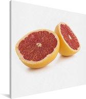 Een kleurrijke grapefruit Canvas 90x90 cm - Foto print op Canvas schilderij (Wanddecoratie woonkamer / slaapkamer)