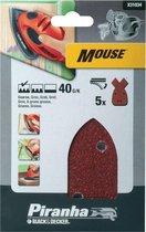 Piranha Schuurstroken Mouse, 40K 5 stuks X31034