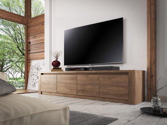 Gratis Eiken Tv Kast.Bol Com Meubella Tv Meubel Monaco Eiken 4 Deuren 170 Cm